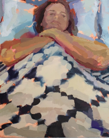 Rachel Rickert, Choke/Hold, 2019   Oil on canvas 10 x 8 inches