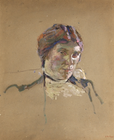 Edouard Vuillard,  Suzanne Desprès, c. 1908  Oil on paperboard 22 1/2 x 18 1/4 inches
