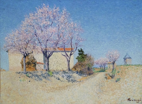 Achille Laugé french, 1861–1944 Almond Trees in Spring (Amandiers au printemps) Oil on canvas 211⁄8 x 283⁄8 inches