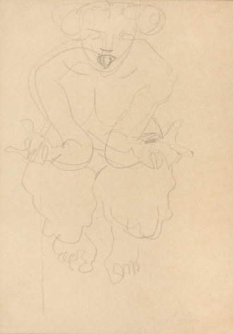 Auguste Rodin, Female Figure Squatting