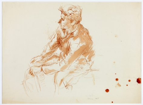 Wolf Kahn, Guillermo, Mexico, 1956    Pen and sepia ink with wash 13 x 19 inches