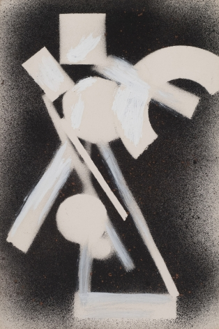 David Smith, Untitled, 1959, Spray paint on paper, 17 1/4  x 11 1/2 inches