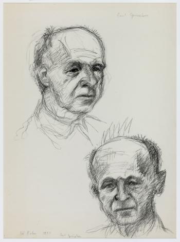 Wolf Kahn, Carl Sprinchorn, Painter, 1955    Pencil 19 x 14 inches