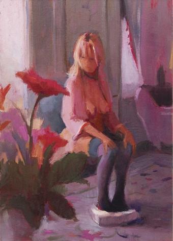 Lisa Yuskavage Grey Bedroom, 2002