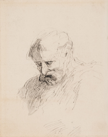 Honore Daumier Head of a Man, c. 1860 Pen and ink on paper 4 7/8 x 3 3/4 inches