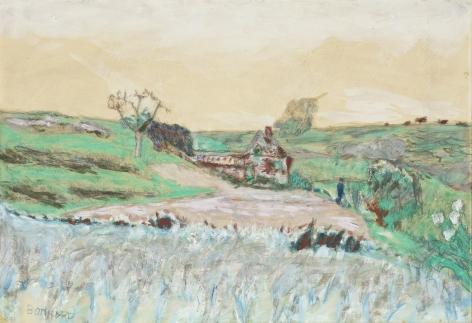 Pierre Bonnard, Maison dans la Vallée, c. 1922,  Watercolor, oil, gouache and pencil 11 x 15 3/8 inches