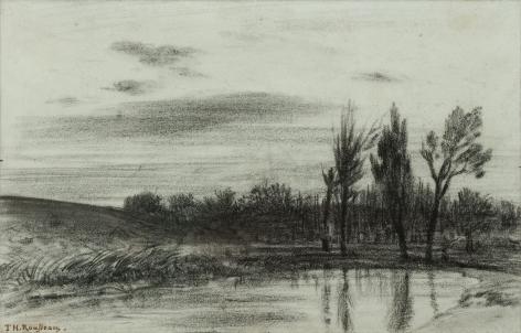 Theodore Rousseau Trees Near a Stream, c. 1845