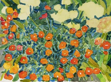 Pamela Sztybel (American, b. 1956) Flowers 2, 2020    Watercolor on paper 9 x 12 in. (22.9 x 30.5 cm)