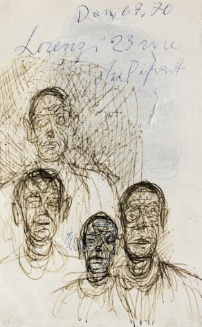 Tete de femme(recto) /4 visages(VERSO),c. 1962,