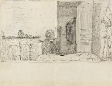 Pierre Bonnard, Study for Salle à manger au parasol, c. 1932