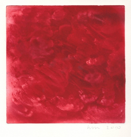 Wendy Mark, red monotype