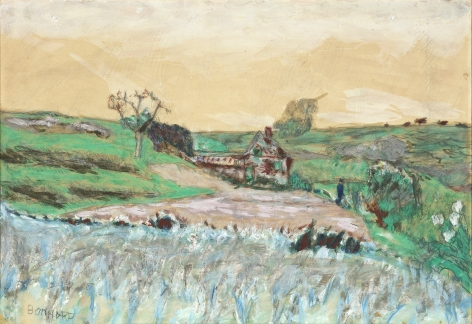 Pierre Bonnard   Maison dans la Vallee, c. 1922  Watercolor, oil, gouache and pencil 11 x 15 3/8 inches