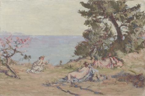 Ker Xavier Roussel  The Beach at Graniers, 1904  Oil on board