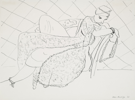 Henri Matisse  La femme en costume persan, 1931  Pen and ink on paper 11 1/8 x 15 in. (28.3 x 38 cm)