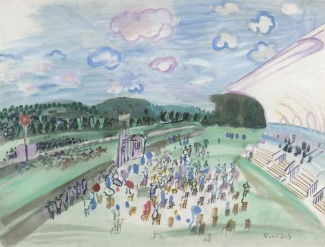 Raoul Dufy Courses à Deauville, c. 1929    Gouache on paper 19 5/8 x 25 5/8 in. (49.9 x 65.1 cm)