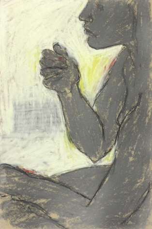 George Segal, Untitled Series VII #3 (Seated Brown Nude), 1965    Pastel on paper 20 x 18 inches