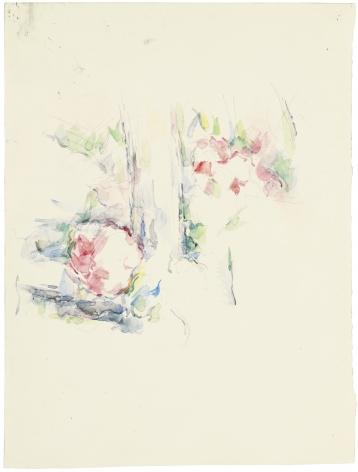 Paul Cezanne, Tronc d'arbre et fleurs, c. 1900