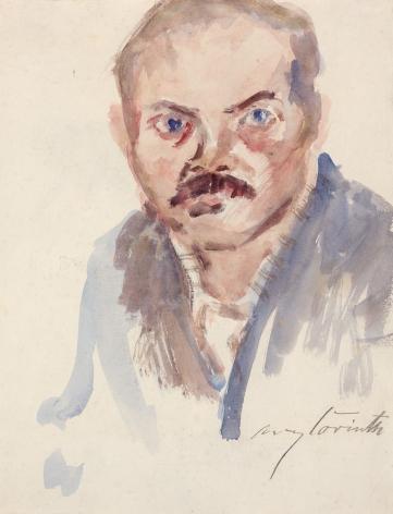 Lovis Corinth  Self-Portrait, c. 1916   Watercolor on paper, verso pencil 28 x 21 1/2 in.