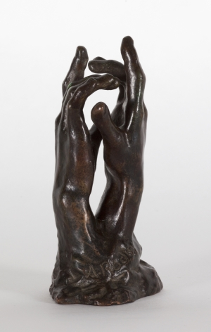 Auguste Rodin, Etude pour Le Secret Conceived in 1910, cast Georges Rudier 1957 Bronze with brown patina 4 3/4 x 2 1/8 x 1 3/4 inches