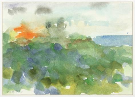 Kikuo Saito, Rincon #73, 2010    Watercolor on paper 5 1/2 x 7 1/4 inches