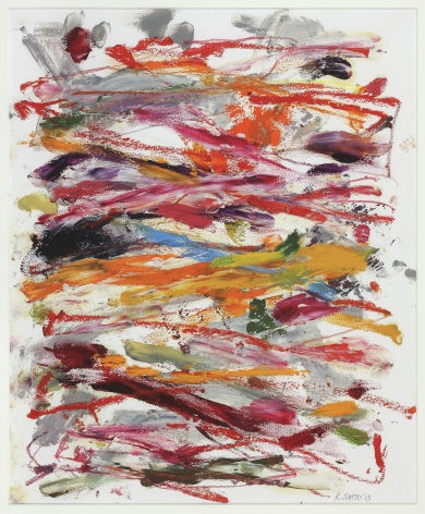 Kikuo Saito, Untitled #230, 2013    Oil and crayon on paper 15 7/8 x 13 inches