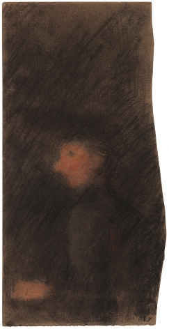 Edouard Vuillard  Woman in Profile, c. 1890  Pastel on paper  9 1/2 x 4 1/2 inches