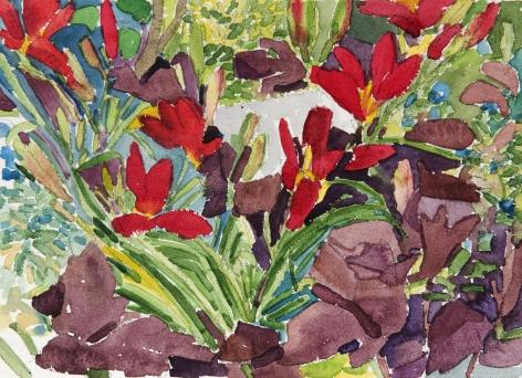 Pamela Sztybel (American, b. 1956) Flowers 1, 2020    Watercolor on paper 9 x 12 in. (22.9 x 30.5 cm)