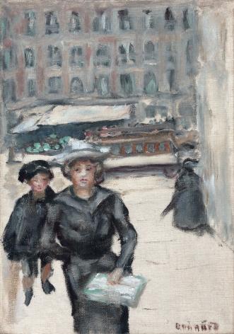 Pierre Bonnard, The Little Street or Boulevard des Batignolles, c. 1903,  Oil on canvas 12 1⁄8 × 8 ½ inches
