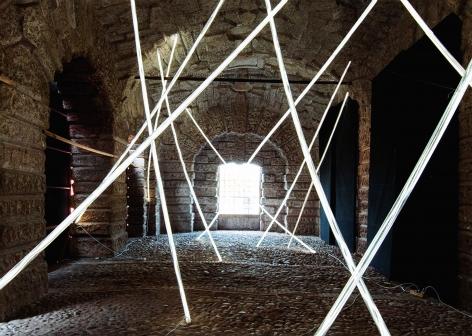 Documentation of installation, LED lights, david dimichele