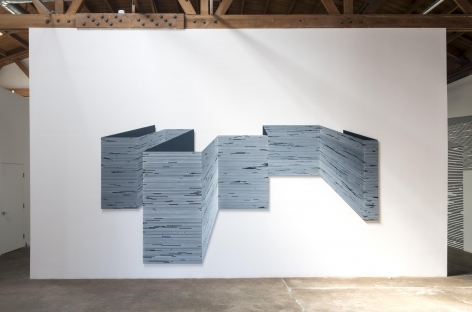 Large four panel wall installation, illusion of depth