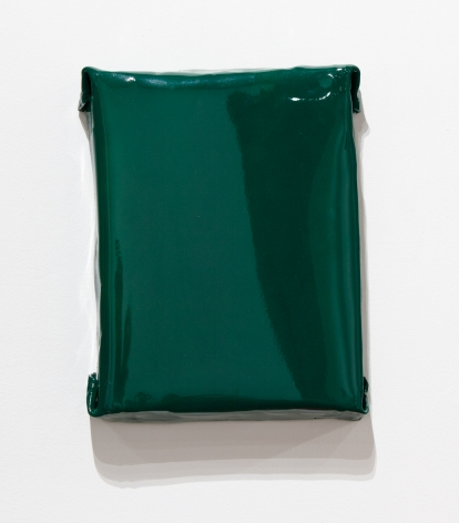 green painting shiny wall sculpture minimalism