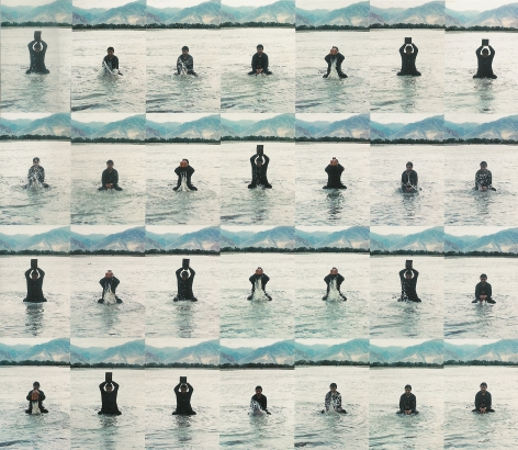 "Song Dong, (b.1966), Stamping the Water å°æ°´1996Photograph æ'""å½±Set of 36, 23 5/8 x 15 3/4 in each (共36件, 每件60 x 40 cm)"