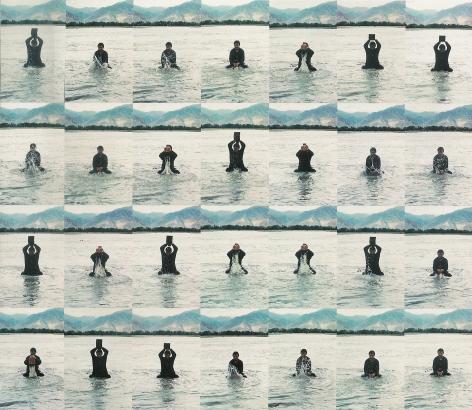 """Song Dong, (b.1966), Stamping the Waterå°æ°´1996Photographæ'""""å½±Set of 36, 23 5/8 x 15 3/4 in each (共36件, 每件60 x 40 cm)"""