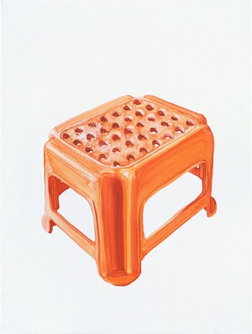 Orange Plastic Stool No.1 æ©™è‰²å¡'料凳1, 2009