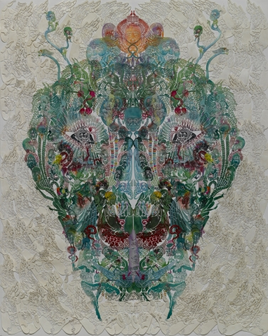 Wu Jian'an 邬建安 (b. 1980), Faces-Grasshopperèš±èœ¢, 2014