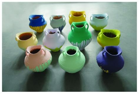 Ai Weiwei 艾未未 (b. 1957), Colored Vases 彩绘陶罐, 2009