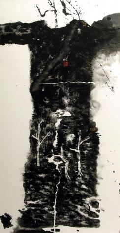 """Chinese Clothes No.01-FN01ä¸å›½æœè£… #01-FN012001Xuan paper, copper powder, burn markså®£çº¸ã€å¢¨ã€é""""œç²‰ã€ç""""°54 x 27 1/4 in (137 x 69.2 cm)"""