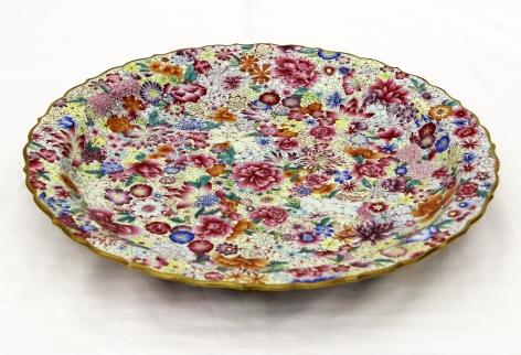 Plate with Flowers 珐琅彩花卉纹盘, 2014