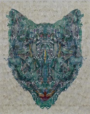Wu Jian'an邬建安(b. 1980), Faces-Wolf狼, 2014