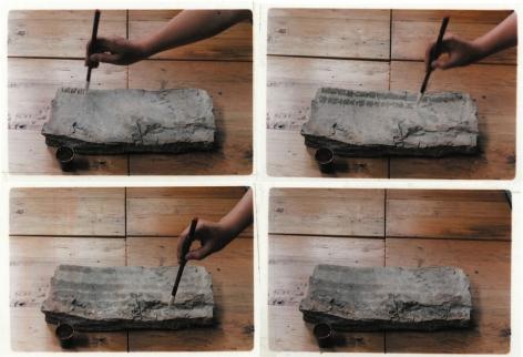 Writing Diary with Wateræ°´å†™æ—¥è®°1996Color photographså½©è‰²ç…§ç‰‡Set of 4, 15 3/4 x 23 5/8 in eachå…±4件, 各40 x 60 cm