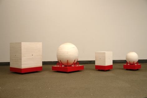 Square Earth, Round Heaven, Installation view