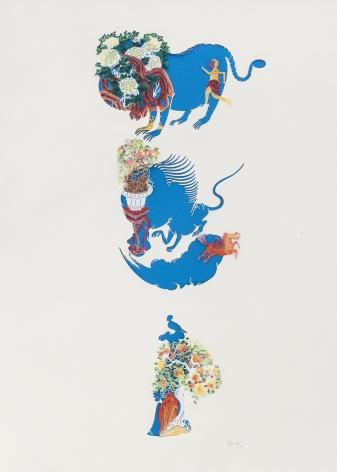 Wu Jian'an邬建安(b. 1980), Sky-Blue Garden天兰色的花园, 2014