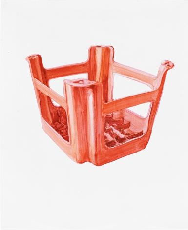 Orange Plastic Stool No.2 橙的塑料凳 No.2, 2009