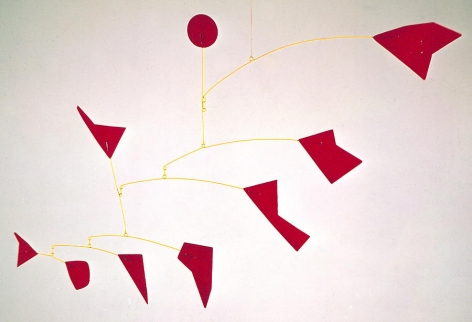 Alexander Calder Red Shapes & Yellow Wires, 1975