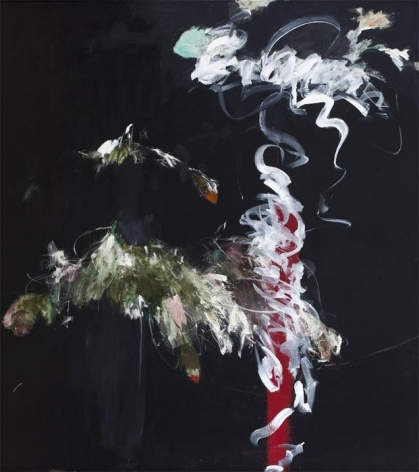 Farideh Lashai Foliage in Darkness Series (red vase), 2007