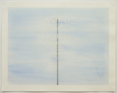 Ed Ruscha (b. 1937), Words #2 (words on a stick), 1985