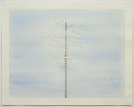 Ed Ruscha (b. 1937), Words #2 (words on a stick), 1985