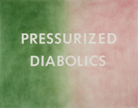 Ed Ruscha Pressurized Diabolics, 1976