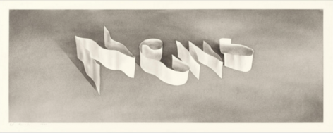 "Gunpowder on Paper: Looking Back at Ed Ruscha's ""Ribbon Words"""