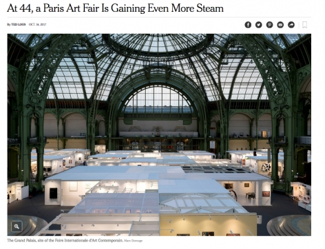 New York Times: At 44, a Paris Art Fair Is Gaining Even More Steam